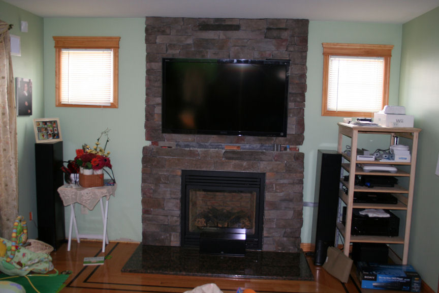 Converting wood burning fireplace to gas